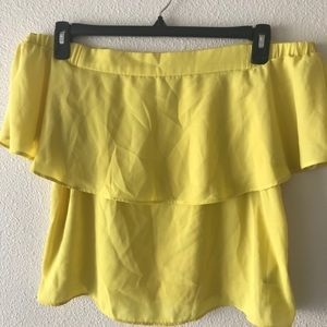 FOREVER 21  OFF-THE-SHOULDER BLOUE  SIZE M